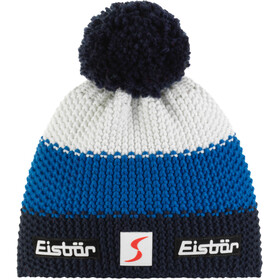 Eisbär Star Gorro Pompon SP, dark cobalt/blue mottled/white